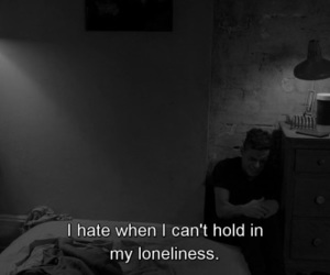 sad, loneliness, and quotes image