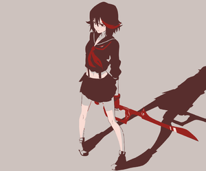 kill la kill, anime, and ryuko matoi image
