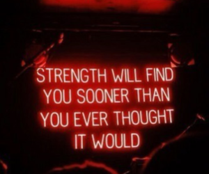 red, quotes, and neon image
