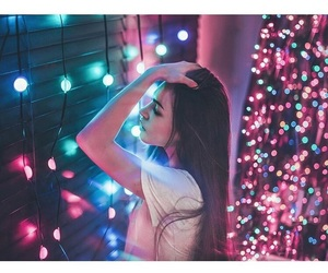 aesthetic, lights, and tumblr image