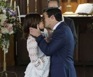 ezria, pll, and wedding image