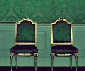 green, chair, and aesthetic image