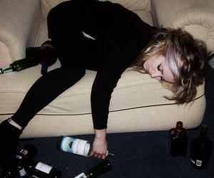 girl, drunk, and drink image