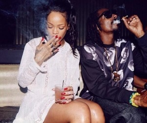 club, rihanna, and smoke image