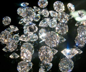 diamond, black, and shine image