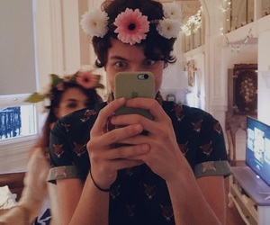 boy, flower crown, and youtuber image