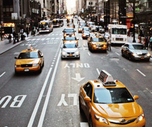 cars, city, and taxi image