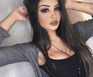girl, makeup, and brazilian image