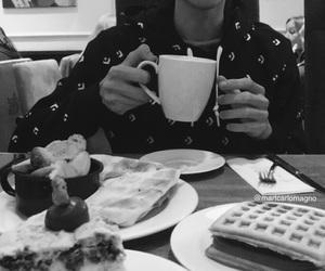 blackandwhite, breakfast, and goals image