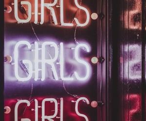 girl, wallpaper, and neon image