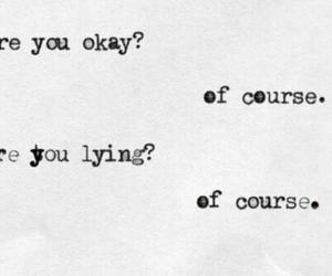 sad, quotes, and lies image
