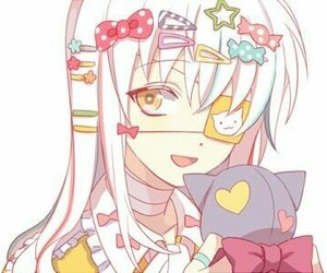 anime, couple, and girl image