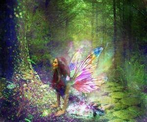 redhead fairy magic and forest fae magic image