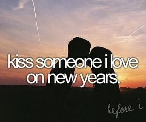 love, kiss, and new year image