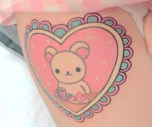 baby, tattoo, and korilakkuma image