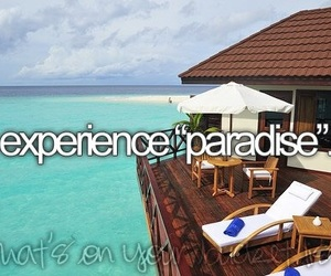 paradise, summer, and bucket list image