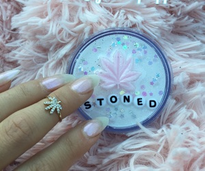 cannabis, girly, and glitter image