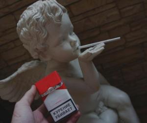 angel, cigarette, and rebel image
