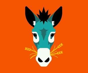 animal art, animals, and donkey image