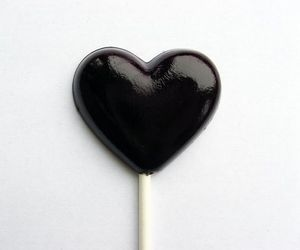 black, heart, and lollipop image