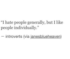 quotes, people, and introvert image