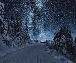 winter, stars, and snow image