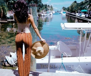 70s, boat, and fashion image