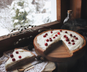 food, cake, and snow image