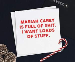 candy canes, Mariah Carey, and pinecones image