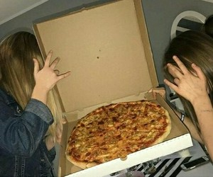food, love pizza, and girls image