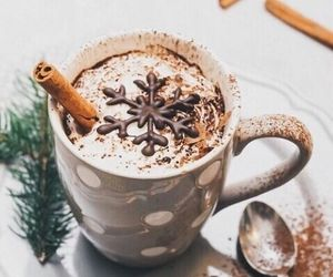 winter, christmas, and chocolate image
