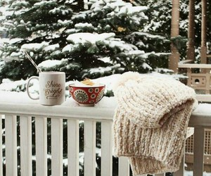 coffee, cold, and snow image