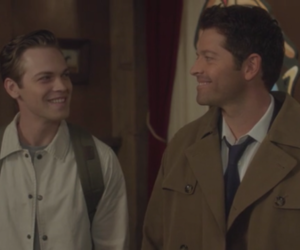 castiel, jack kline, and supernatural image
