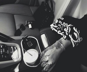 henna, car, and abaya image