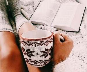 books, winter, and read image