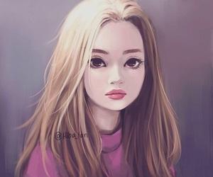 girl, art, and beauty image