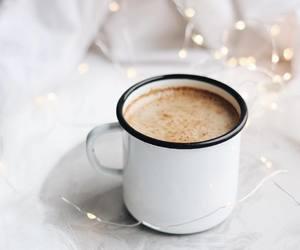 christmas, drinks, and white image