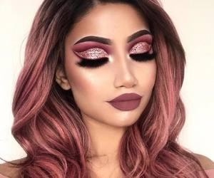 beauty, lips, and makeup image