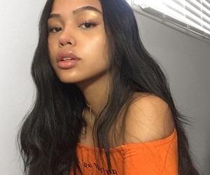 brunette and girl image