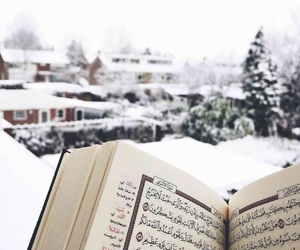 arabic, islam, and snow image
