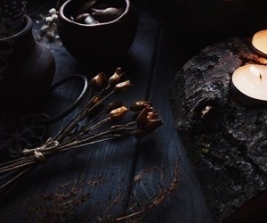 witch, black, and candles image