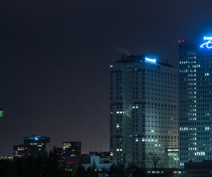 buildings, dark, and lights image