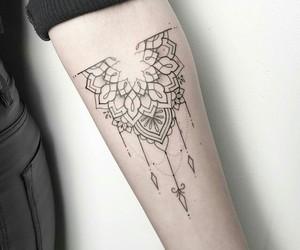 girl, ink, and mandala image