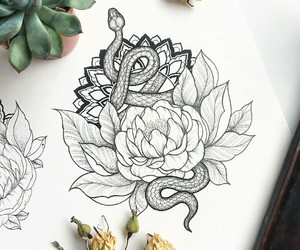 flowers, mandala, and sketch image