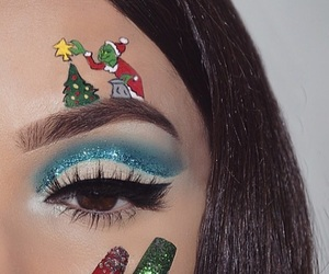 art, glitter, and grinch image