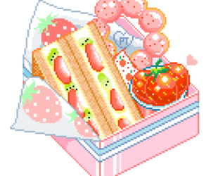 pixel, food, and cute image