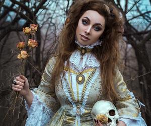 art, mystic, and skull image
