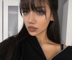 girl, bangs, and beauty image