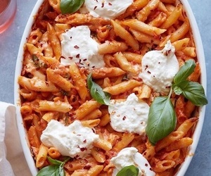 dinner, pasta, and yummy image