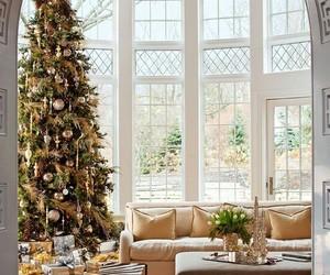 christmas tree, holidays, and ornaments image